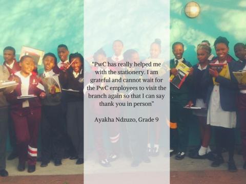 PricewaterhouseCoopers (PwC) Donates Stationery to Nyanga Branch