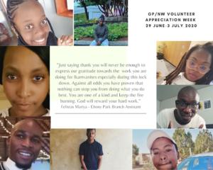 "IkamvaYouth Gauteng and  North West Tutor Appreciation Week (29 June – 3 July 2020):  ""The love shower, lockdown edition"""